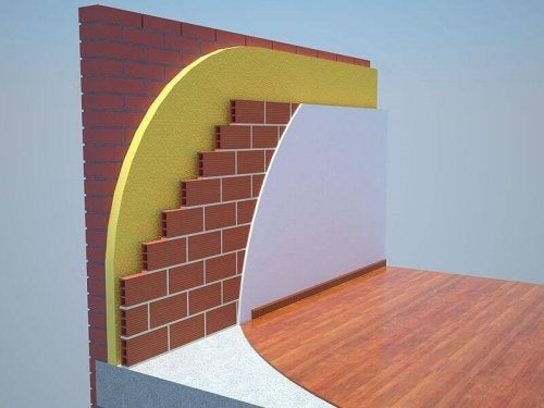 A digital representation of insulation walls.