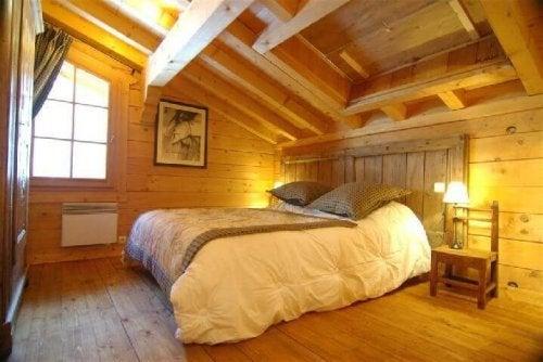 A classic wooden garret.
