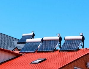 You can place solar water heaters on your roof due to their small size.