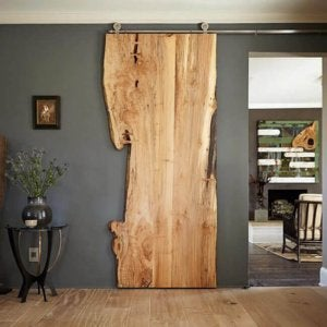 Untreated wood makes your room stand out.
