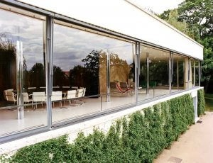 The windows of Villa Tugendhat.