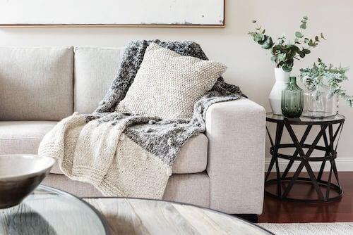 warm sofa