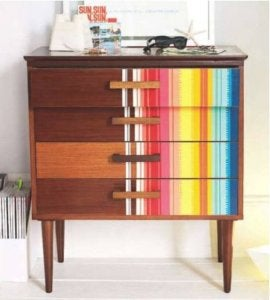 Reinvent old furniture using washi tapes.