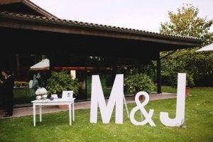 Wedding initials.