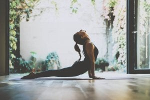 Stretching and doing exercises help you relax.
