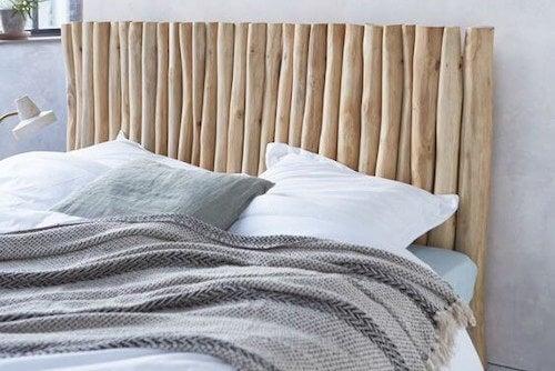 wooden bedboard