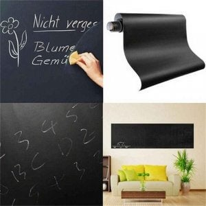 A blackboard made out of vinyl.
