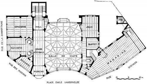 Blueprint of the la Casa del Pueblo