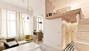 A mezzanine made of stone.