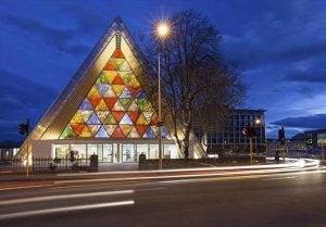 The Christchurch cathedral, designed by Shigeru Ban.