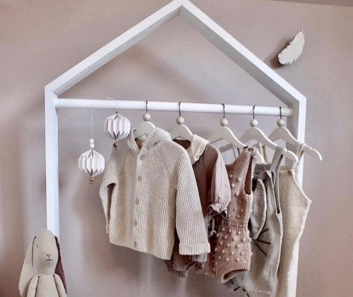 A child's coat rack.
