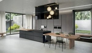 A high-tech style kitchen.