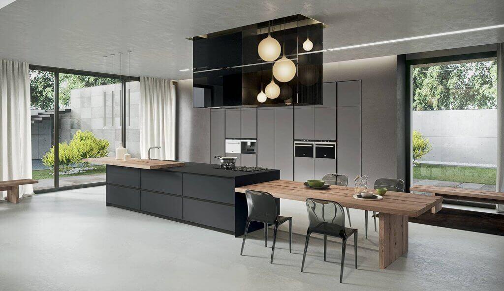 A high-tech style kitchen.