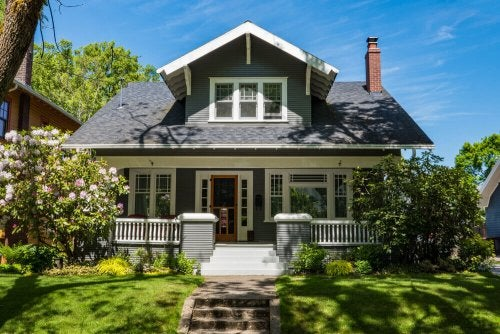 A craftsman-style house.