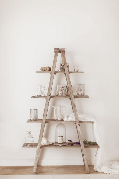 A DIY ladder.