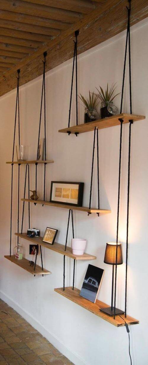 hanging shelves string