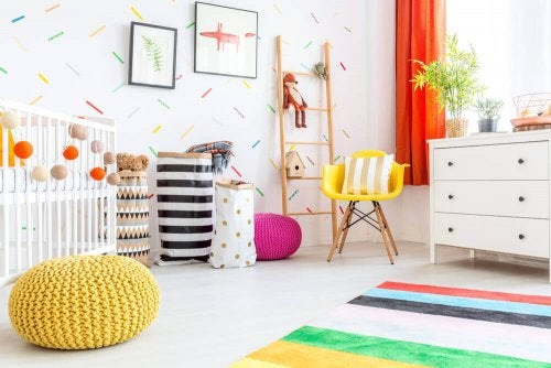 A happy child's bedroom.