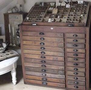 Printing press furniture.