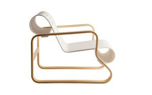 The Paimio chair, a piece of furniture designed by architects.