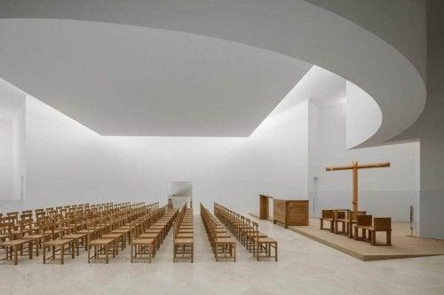 An auditorium designed by Alvaro Siza
