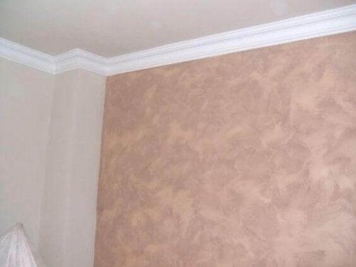 The sponge effect on walls.