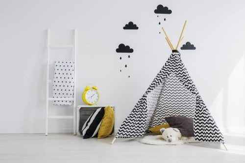 Tents are great accessories for a child's room.