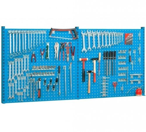A bright blue tool panel.
