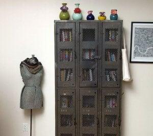 Vintage lockers.
