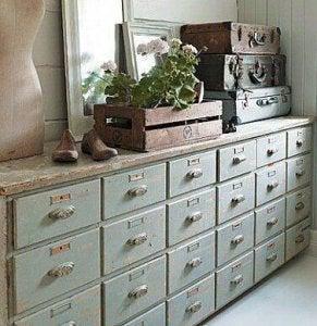Vintage drawers.