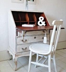 A vintage desk.