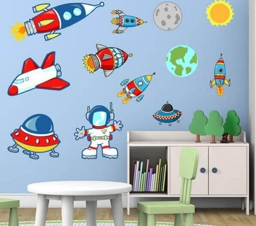 Fun wall accessories for a child's room can add pops of color.