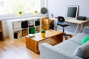Maximize your work space in small spaces.