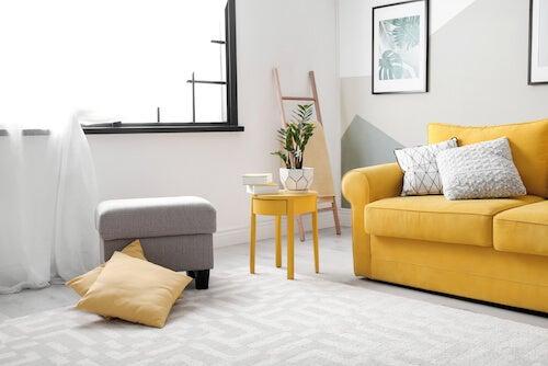 yellow tones living room