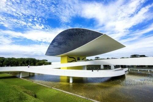 A building designed by Oscar Niemeyer.