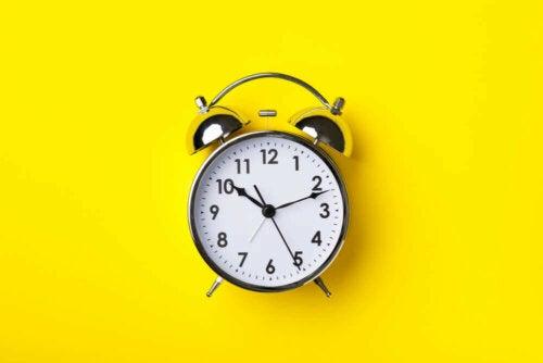 A classic alarm clock.