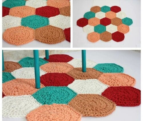 A crochet rug.