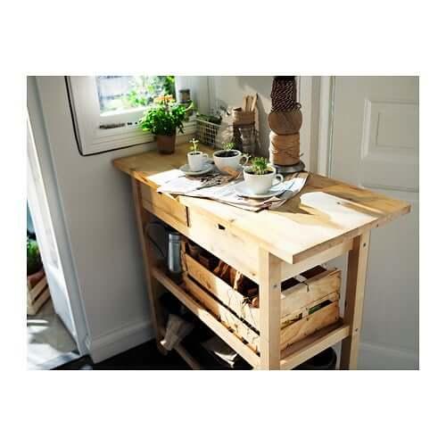 A kitchen cart.