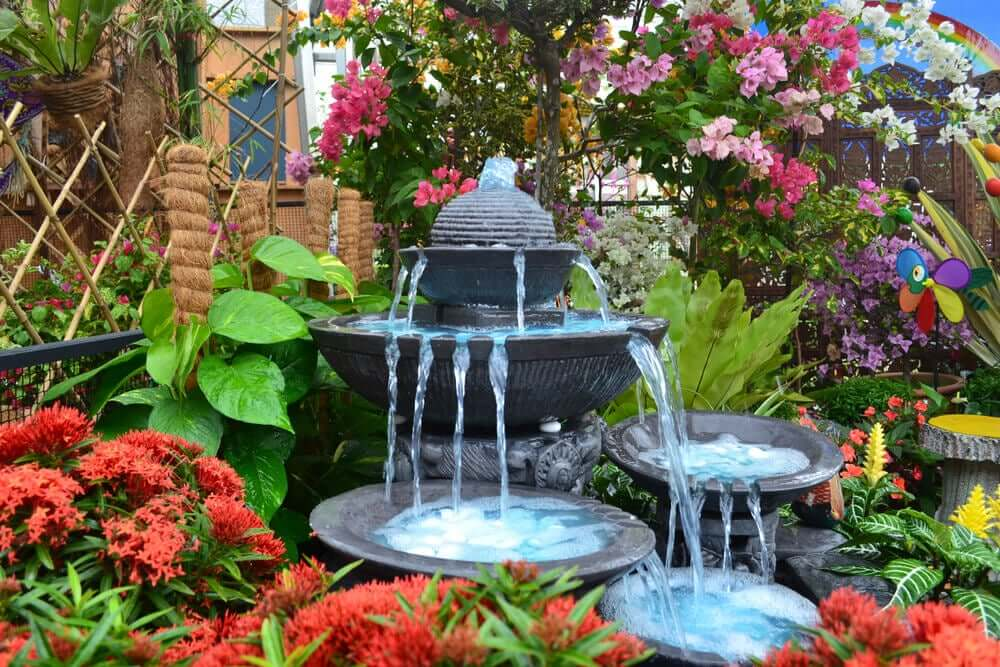 Fountains are one way to decorate your garden and terrace.