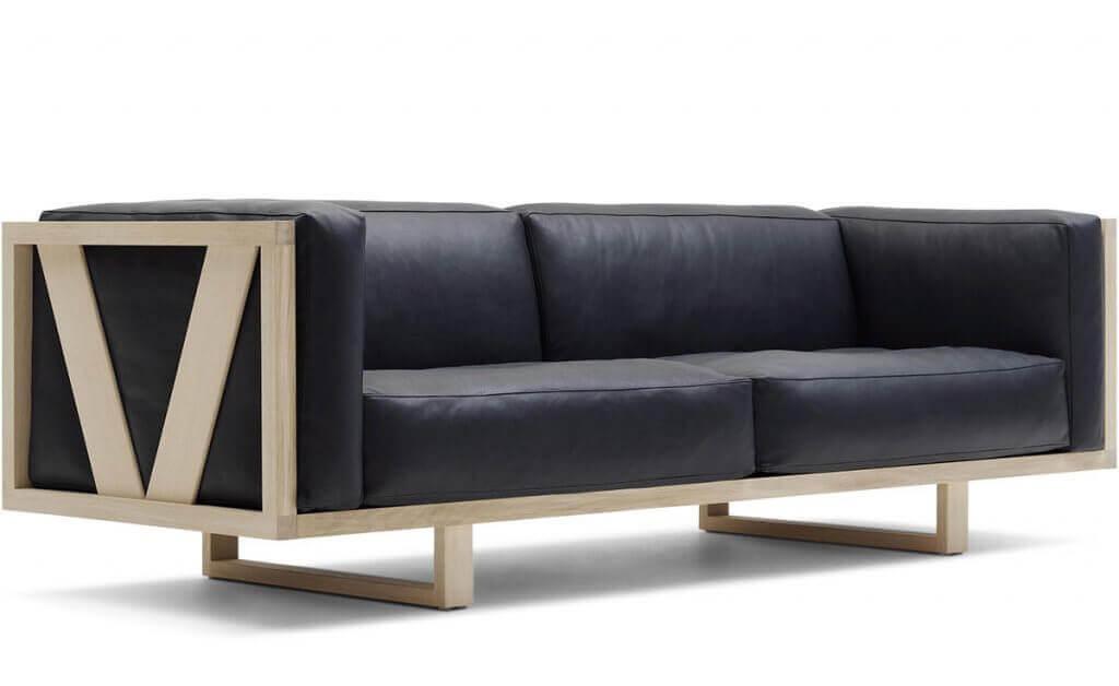 An Erik Jorgensen sofa named a Frame Sofa.