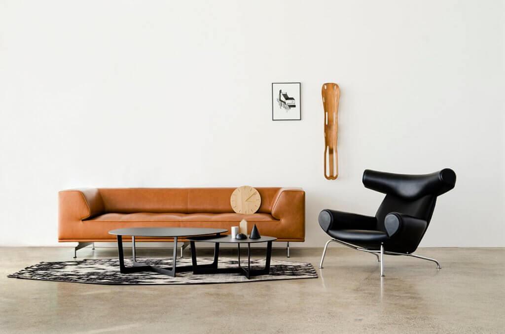 Erik Jorgensen sofas are unique examples of modern interior design.