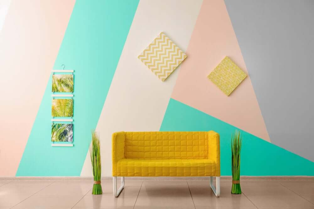 multicolored interior decoration on walls