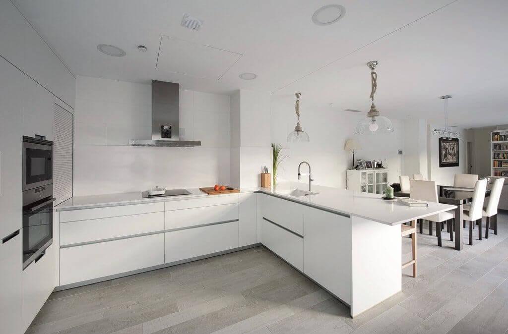 Kitchen peninsulas can serve as extra storage.