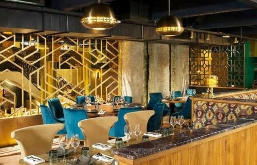 A restaurant designed by Laura González.