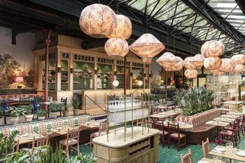 A beautifully designed restaurant.