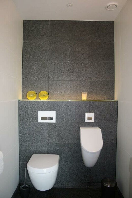 Modern urinals are great features for the bathroom.