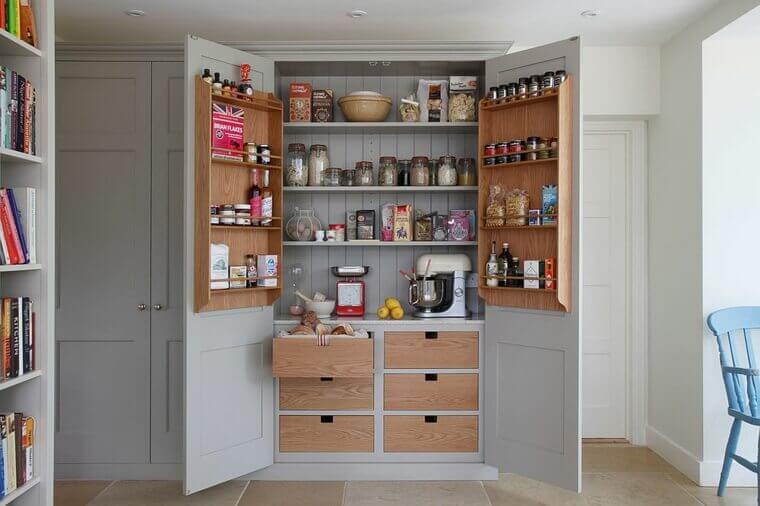 A full pantry.