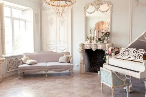 A romantic style living room.