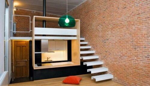 An apartment that takes advantage of vertical space.