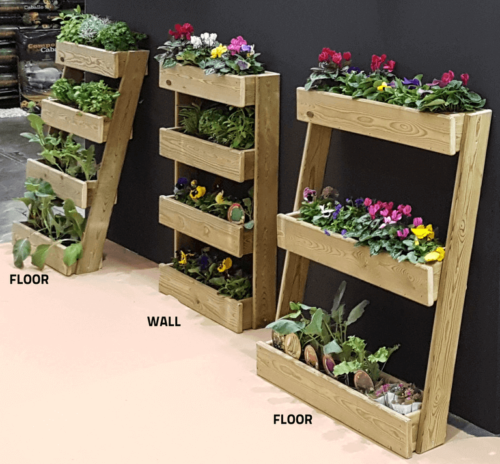 There are many types of planters, such as vertical planters.