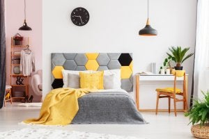 Yellow can brighten up any room.